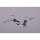 4 space Ag earring eight antique silver 925/1000