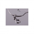 4 space Ag Pendant eight antique silver 925/1000