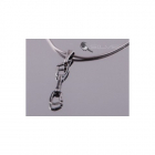 4 space Ag Pendant express antique silver 925/1000