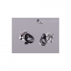 4 space Ag earring rivets antique silver 925/1000