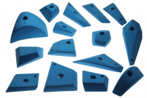 Geometric positive - set of climbing holds