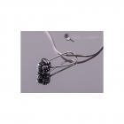 4 space Ag Pendant node antique silver 925/1000