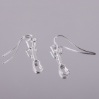 4 space Ag earring express 925/1000