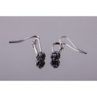 4 space Ag earring node antique silver 925/1000