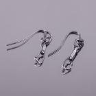 4 space Ag earring express antique silver 925/1000