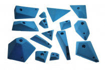 Geometric grip - set of climbing holds
