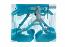 R.E. 3B Slight W harness aqua XL